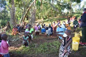 The Water Project: Khaunga A Community, Murutu Spring -  Participants Answering Questions