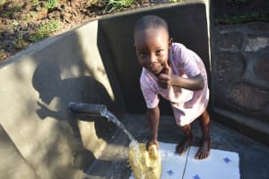 The Water Project: Khaunga A Community, Murutu Spring -  Accessible Water For All Ages