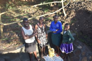 The Water Project: Khaunga A Community, Murutu Spring -  Smiles At The Spring