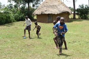 The Water Project: Ematetie Community, Amasetse Spring -  Children Playing