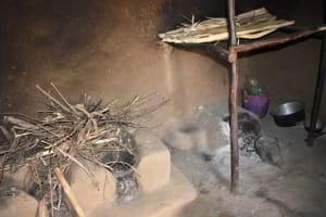 The Water Project: Ematetie Community, Amasetse Spring -  Kitchen Inside