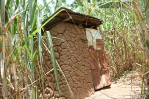 The Water Project: Ematetie Community, Amasetse Spring -  Latrine