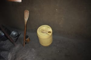 The Water Project: Ematetie Community, Amasetse Spring -  Water Storage Container