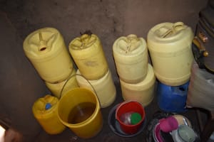 The Water Project: Ematetie Community, Amasetse Spring -  Water Storage Containers