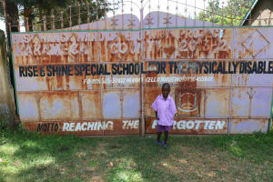 The Water Project: Rise and Shine Special School for the Physically Handicapped -  Francis At The School Gate