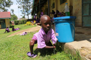 The Water Project: Rise and Shine Special School for the Physically Handicapped -  Francis Washing His Hands