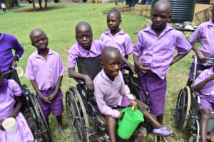 The Water Project: Rise and Shine Special School for the Physically Handicapped -  Students Fetching Water
