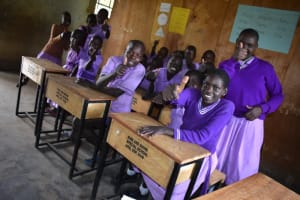 The Water Project: Rise and Shine Special School for the Physically Handicapped -  Students Pose For A Photo In Class