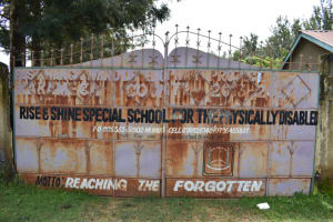 The Water Project: Rise and Shine Special School for the Physically Handicapped -  Gate And School Sign