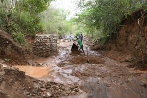 The Water Project: Kangalu Community B -  Preparing Dam Site
