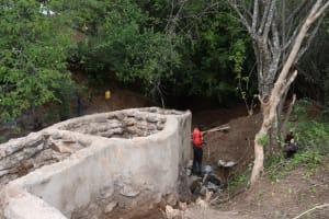 The Water Project: Kangalu Community C -  Well Progress