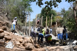 The Water Project: Syonzale Community -  Dam Construction