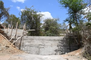The Water Project: Syonzale Community -  View Of Nearly Complete Dam