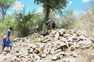 The Water Project: Kaketi Community C -  Large Rocks For Construction