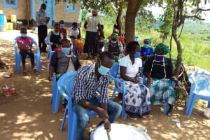 The Water Project: Kaketi Community C -  Mixing Soap