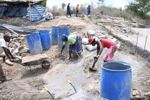 The Water Project: Kaketi Community C -  Mixing