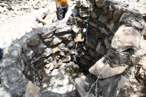 The Water Project: Kaketi Community C -  Inside Well In Progress