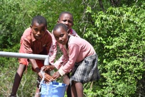 The Water Project: Kaketi Community C -  Kids At The Well