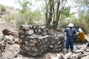 The Water Project: Kaketi Community C -  Well Building Up