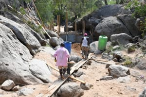The Water Project: Kithalani Community -  Carrying Rocks And Dirt
