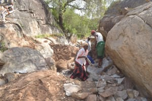The Water Project: Kithalani Community -  Community Members Work At Job Site