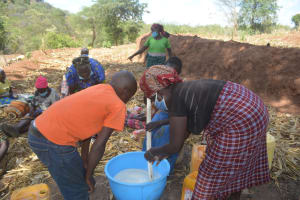 The Water Project: Kithalani Community -  Mixing Soap