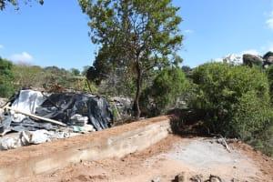 The Water Project: Kithalani Community -  Dam Construction Progress