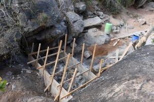 The Water Project: Kithalani Community -  Dam Scaffolding