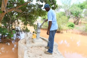 The Water Project: Kithalani Community A -  Pumping The Well