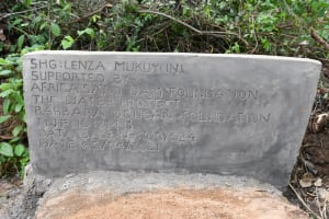 The Water Project: Kithalani Community A -  Well Plaque
