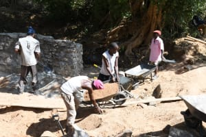 The Water Project: Kithalani Community A -  Working Near The Well