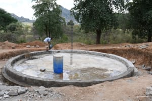 The Water Project: Mung'alu Primary School -  Beginning On Tank Walls