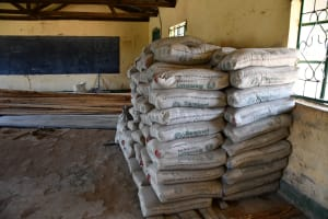 The Water Project: Mung'alu Primary School -  Cement Bags For Tank