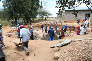 The Water Project: Mung'alu Primary School -  Excavating Foundation Area