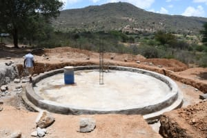 The Water Project: Mung'alu Primary School -  Foundation Complete
