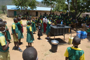 The Water Project: Mung'alu Primary School -  Handwashing Session