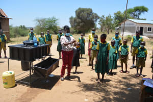 The Water Project: Mung'alu Primary School -  Handwashing Station