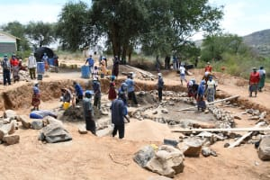The Water Project: Mung'alu Primary School -  Tank Foundation Work