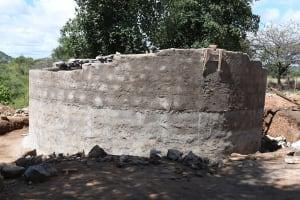 The Water Project: Mung'alu Primary School -  Tank Wall Progress