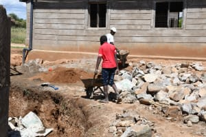 The Water Project: Mung'alu Primary School -  Working On The Construction Site