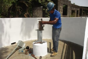 The Water Project: Rosint Community, #24 Poultry St -  Pump Installation