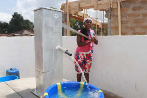 The Water Project: Kamasondo, Borope Village, Main Motor Rd. Junction -  Pumping The Well