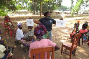 The Water Project: Kamasondo, Borope Village, Main Motor Rd. Junction -  Teaching About Community Health