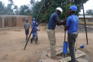The Water Project: Kamasondo, Robombeh Village, Next to Mosque -  Drilling