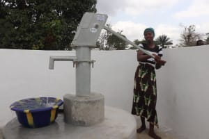 The Water Project: Kamasondo, Robombeh Village, Next to Mosque -  Pumping The Well