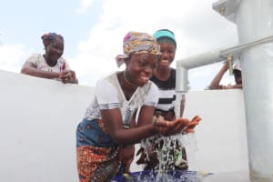 The Water Project: Kamasondo, Robombeh Village, Next to Mosque -  Women Celebrate At The Well
