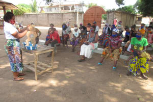 The Water Project: Lungi, Rotifunk, Paramount Chief's Compound -  Diarrhea Doll Discussion And Demonstration