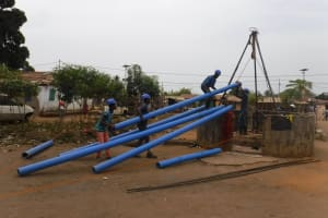 The Water Project: Lungi, Rotifunk, Paramount Chief's Compound -  Drilling