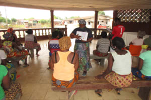 The Water Project: Lungi, Rotifunk, Paramount Chief's Compound -  Hygiene And Sanitation Training