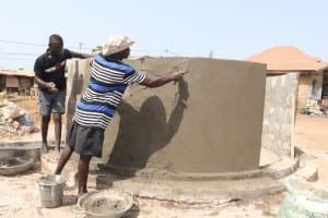 The Water Project: Lungi, Rotifunk, Paramount Chief's Compound -  Pad Construction
